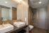 Bad im Doppelzimmer Premium Attika im Hotelteil Oase Süd